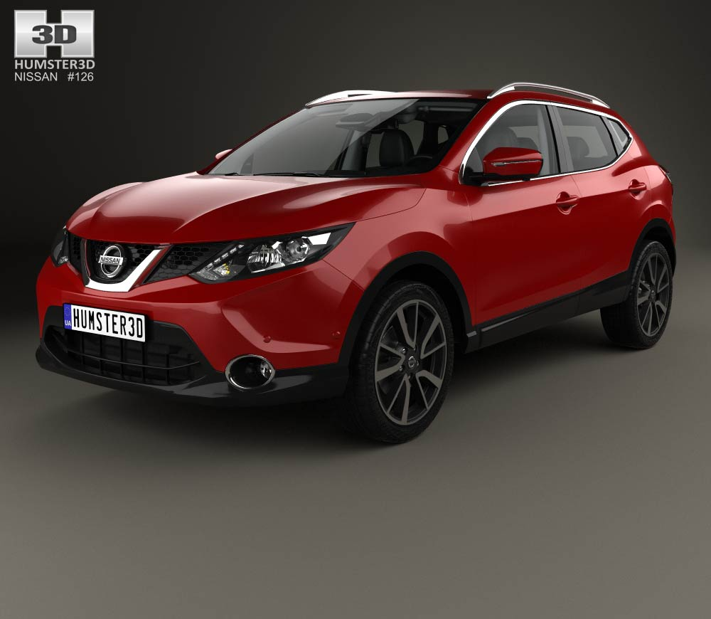 Nissan Qashqai with HQ interior and engine 2014 3d model