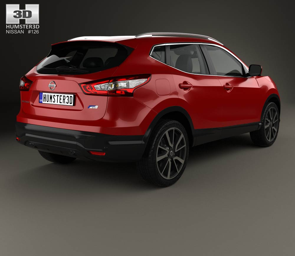 nissan qashqai with hq interior and engine 2014 3d model humster3d. Black Bedroom Furniture Sets. Home Design Ideas