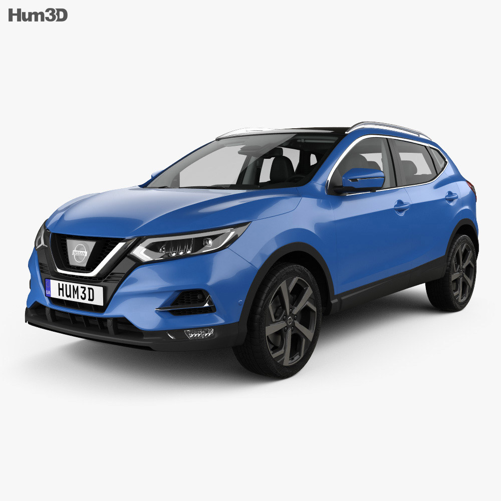 Nissan Qashqai with HQ interior 2017 3d model