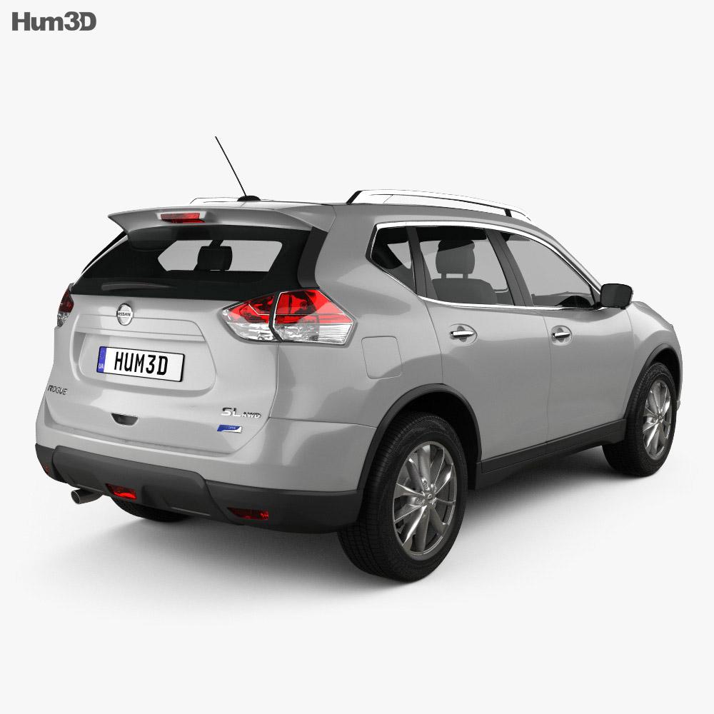 nissan rogue 2014 3d model hum3d
