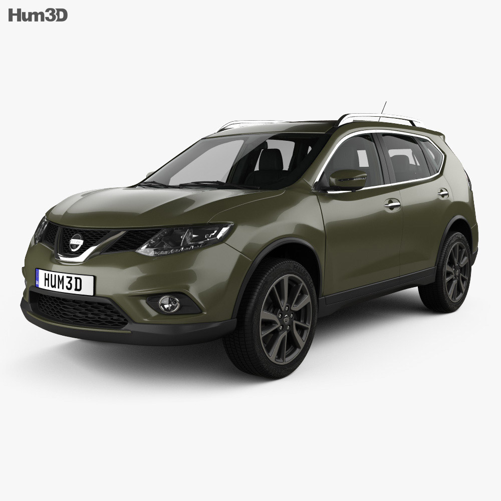 Nissan Rogue with HQ interior 2017 3d model
