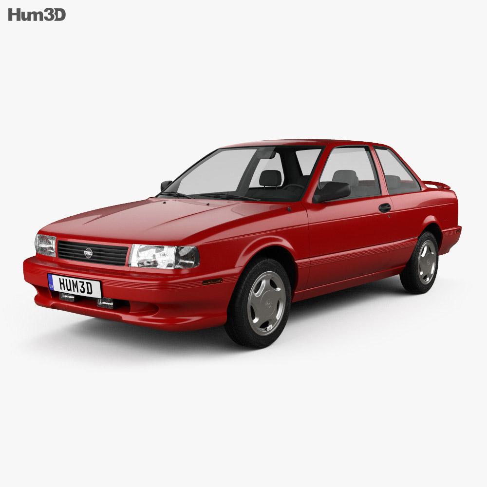 Nissan Sentra SE-R coupe 1990 3d model