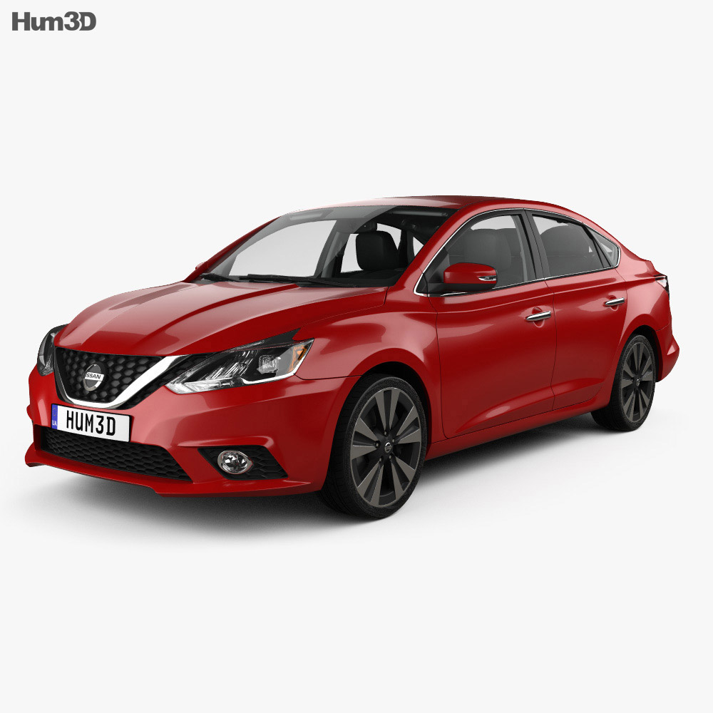 Nissan Sentra SL with HQ interior 2016 3d model