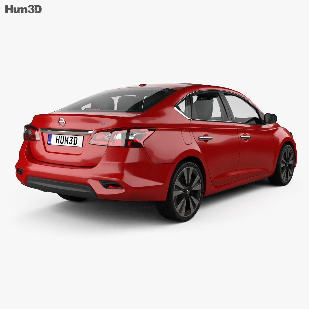 Nissan Sentra SL with HQ interior 2016 3d model
