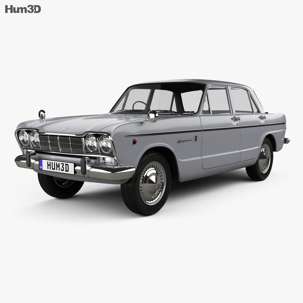 Nissan Skyline (S54) GT 1964 3d model