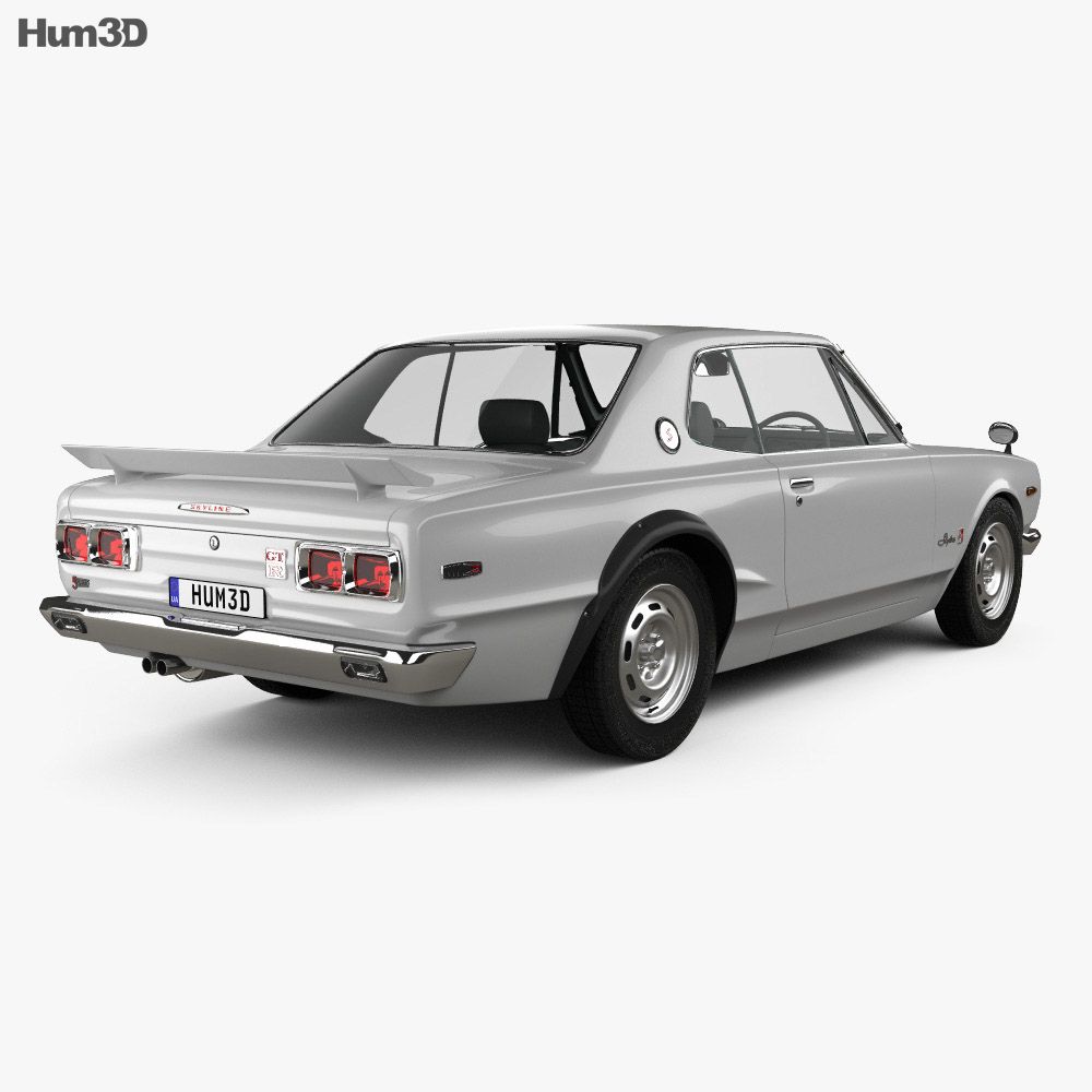 Nissan Skyline (C10) GT-R Coupe 1970 3d model