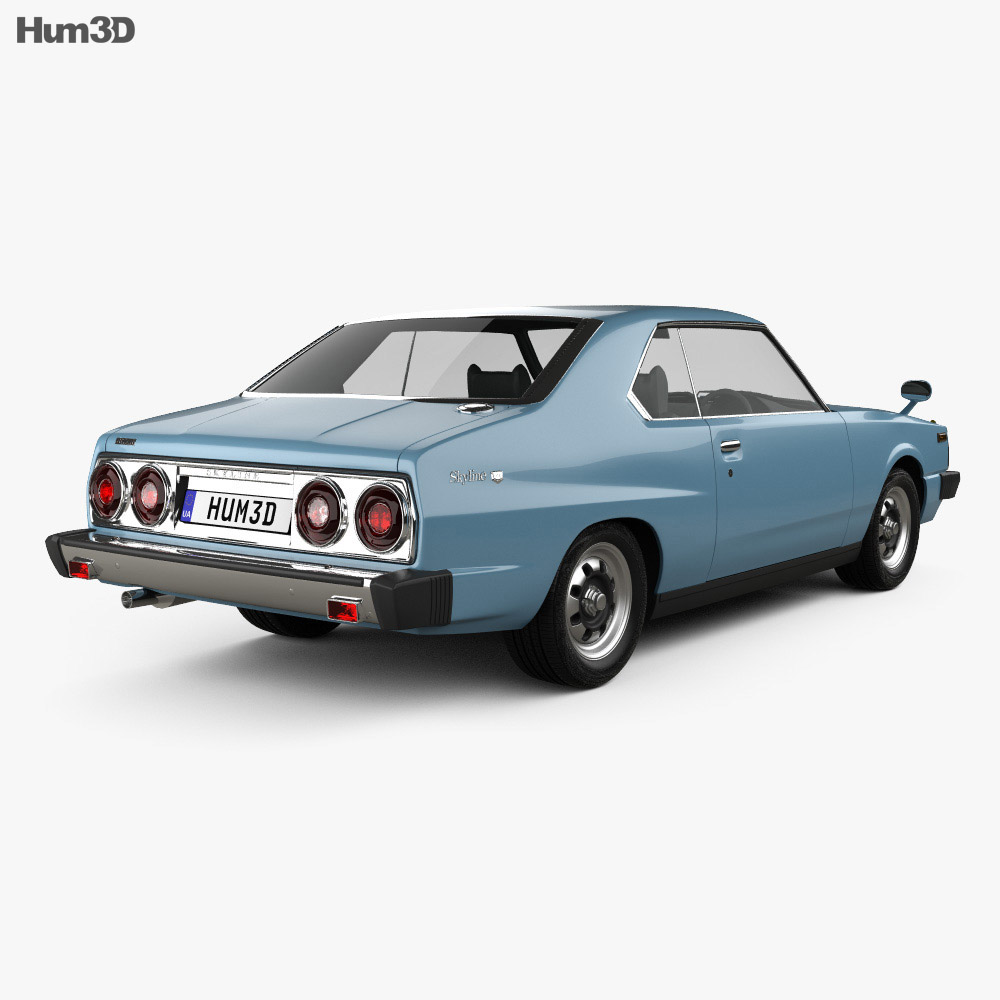 Nissan Skyline (C210) GT Coupe 1977 3d model