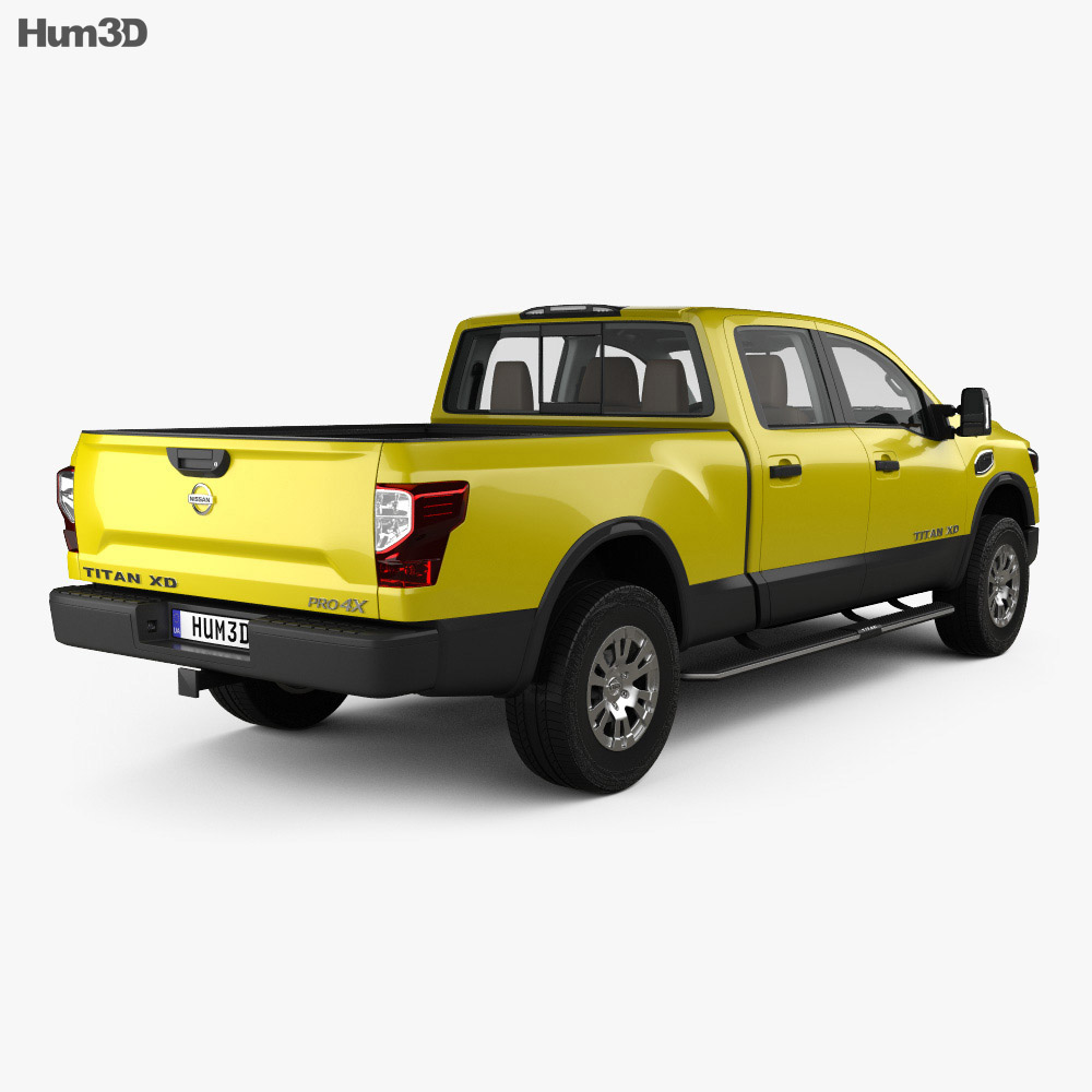 nissan titan crew cab xd pro 4x with hq interior 2016 3d model vehicles on hum3d. Black Bedroom Furniture Sets. Home Design Ideas