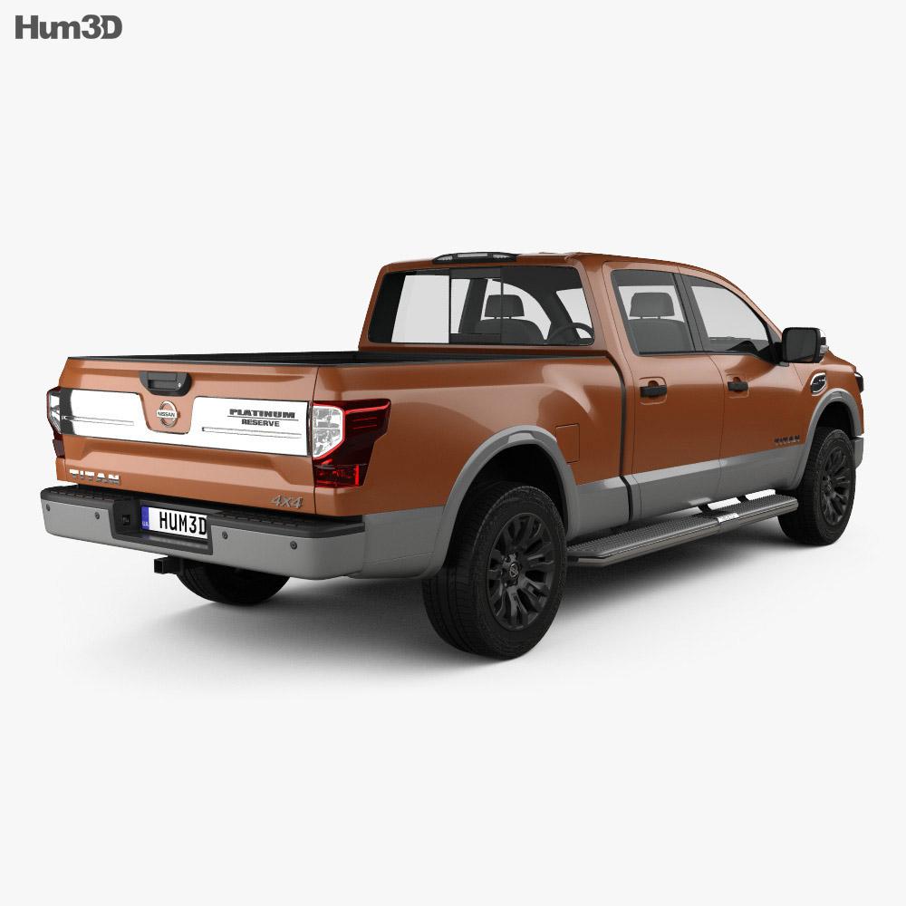 Nissan Titan Crew Cab Platinum Reserve 2017 3d model