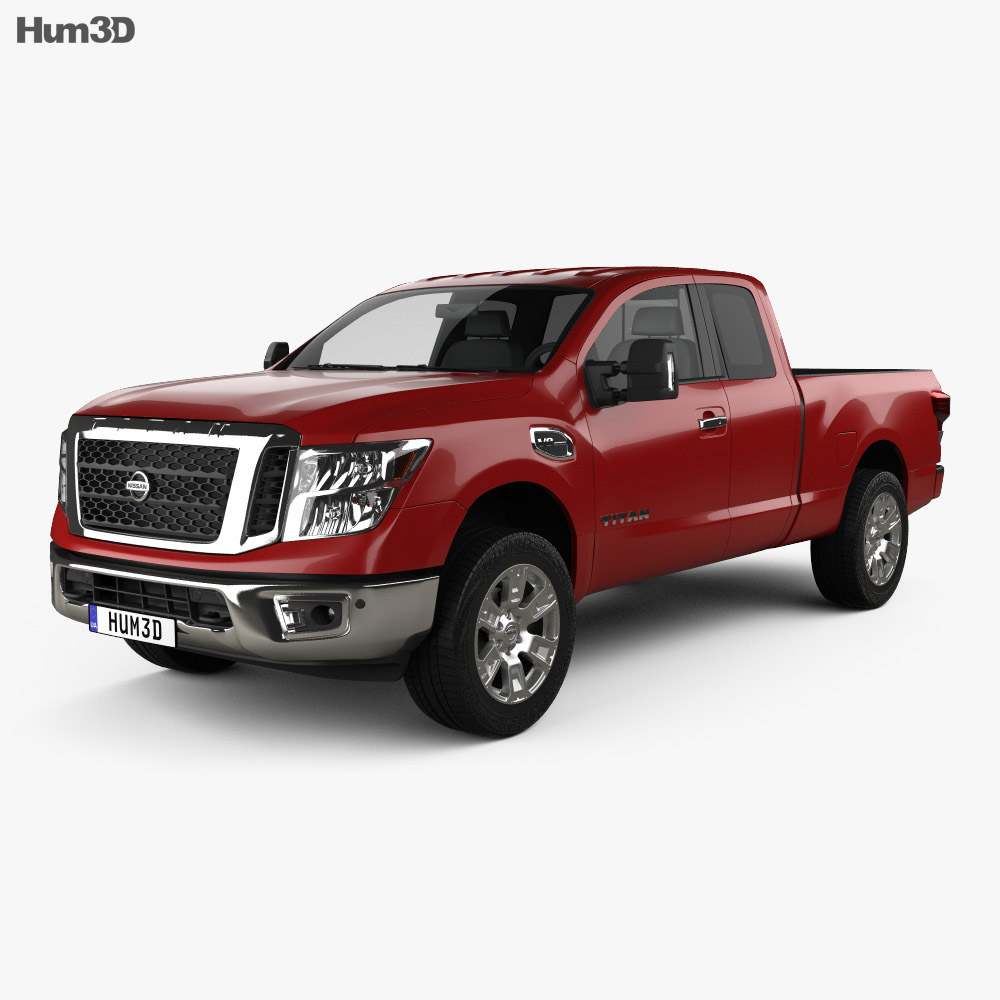 nissan titan king cab sv 2017 3d model hum3d. Black Bedroom Furniture Sets. Home Design Ideas