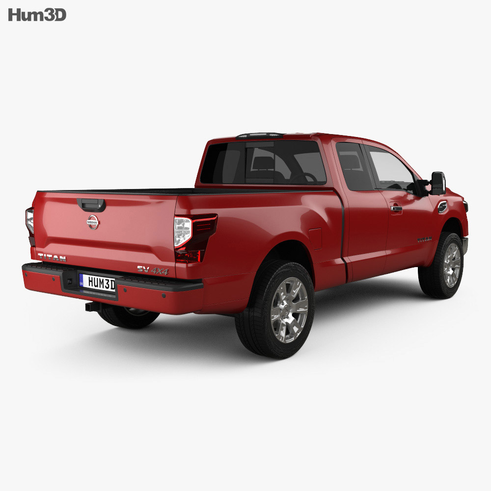 Nissan Titan King Cab SV 2017 3d model