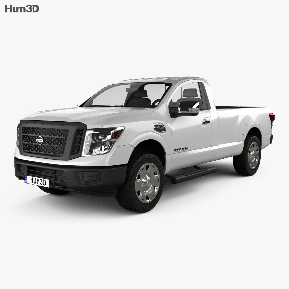 Nissan Titan Single Cab XD S 2017 3d model