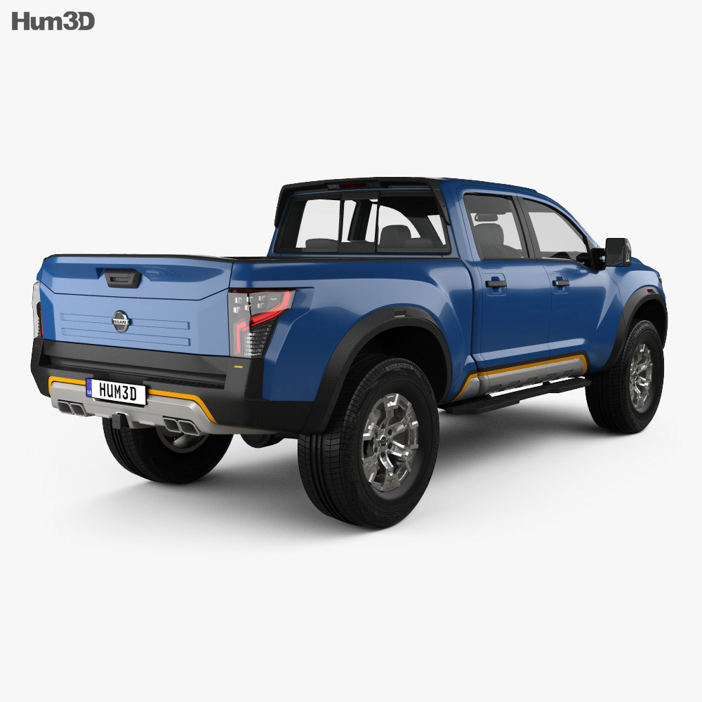 Nissan Titan Warrior 2016 3d model back view