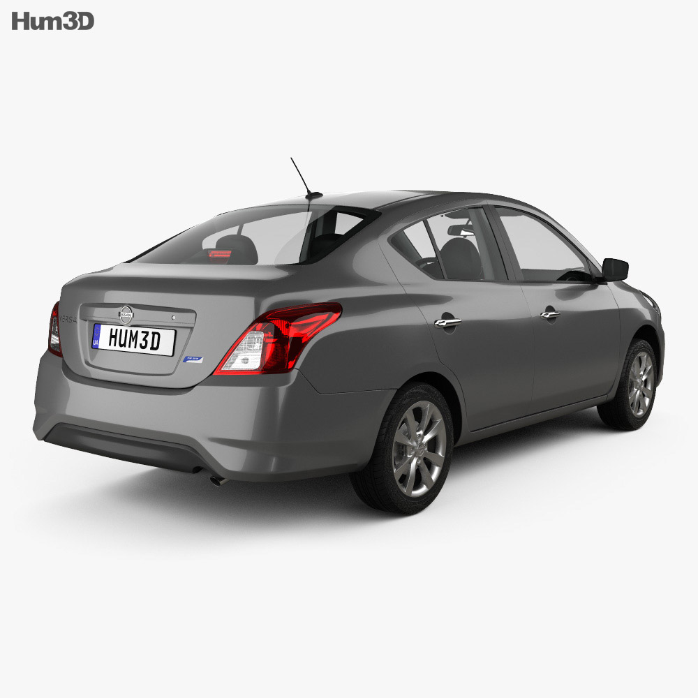 Nissan Versa Sense with HQ interior 2015 3d model