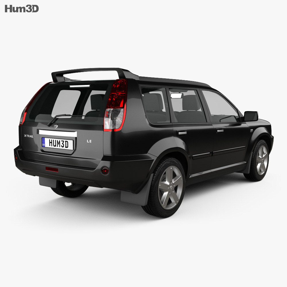 nissan x trail 2004 3d model hum3d. Black Bedroom Furniture Sets. Home Design Ideas