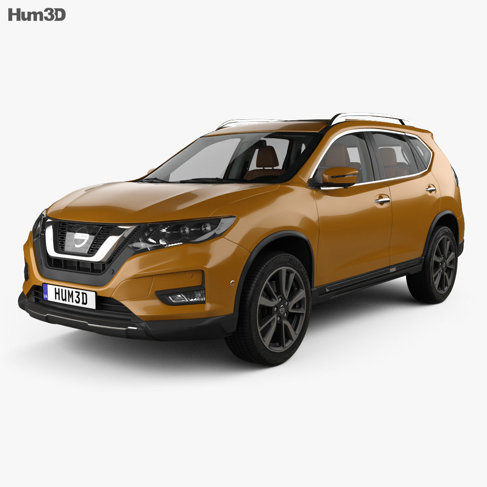 Nissan X-Trail with HQ interior 2017 3d model