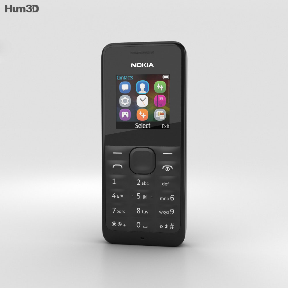 Nokia 105 Black 3d model