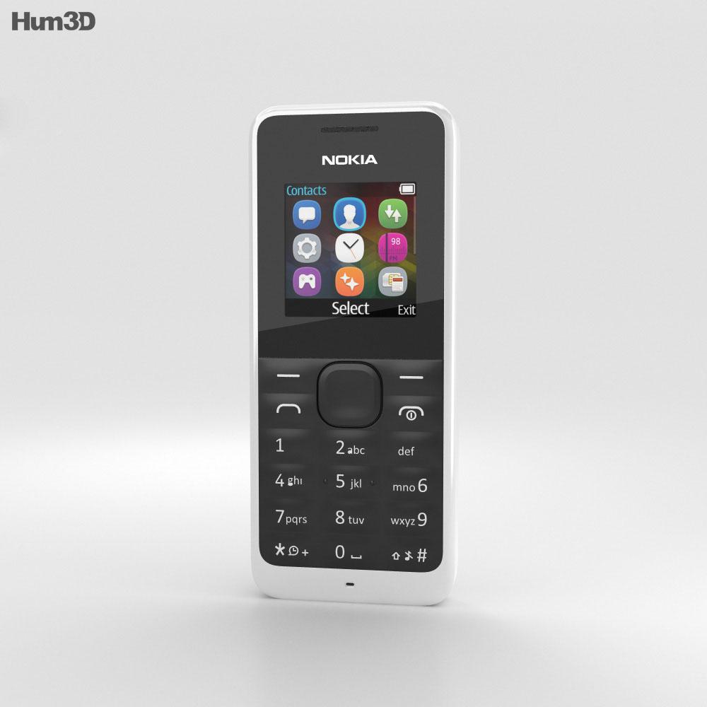 Nokia 105 White 3d model