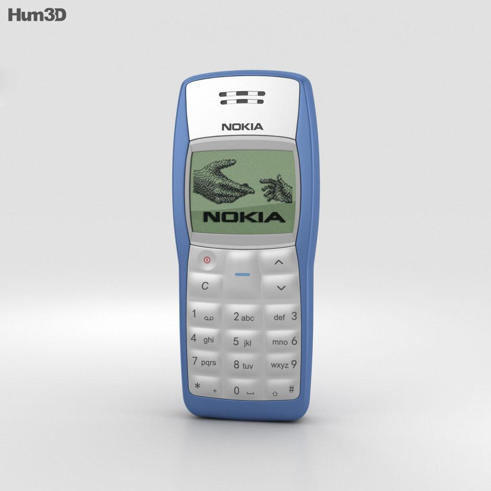 Nokia 1100 Blue 3d Model Humster3d