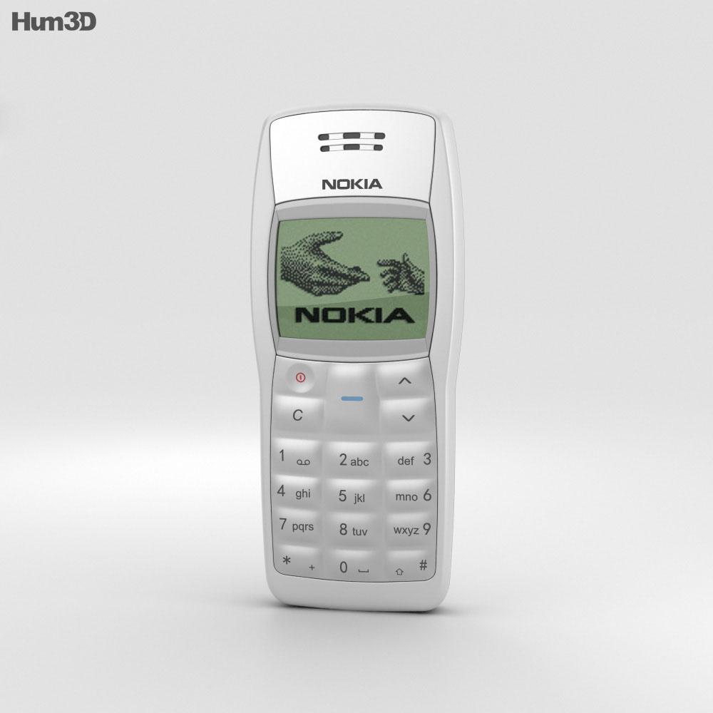 Nokia 1100 White 3d model