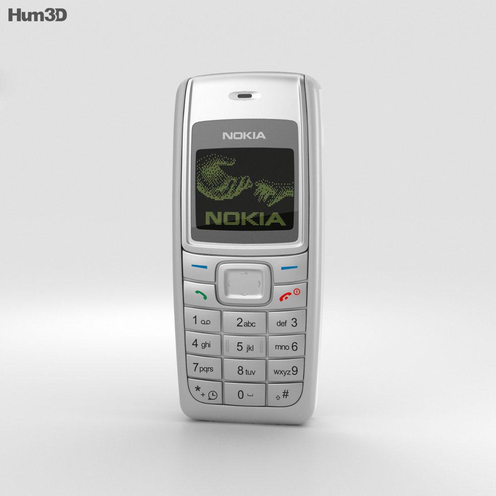 Nokia 1110 White 3d model