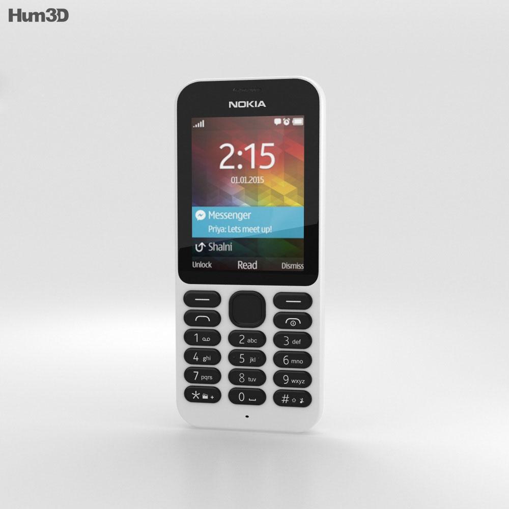 Nokia 215 White 3d model