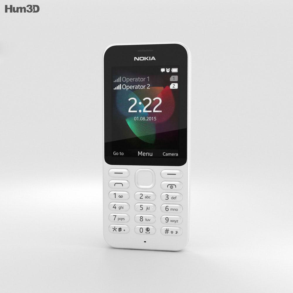 Nokia 222 White 3d model
