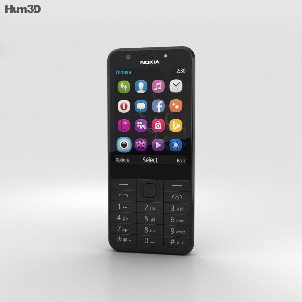Nokia 230 Dual SIM Black 3d model