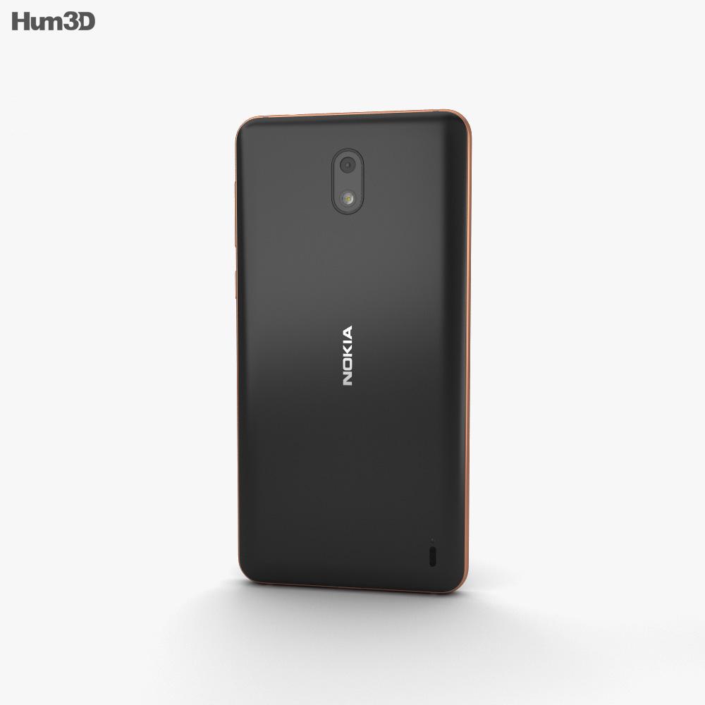 Nokia 2 Copper Black 3d model