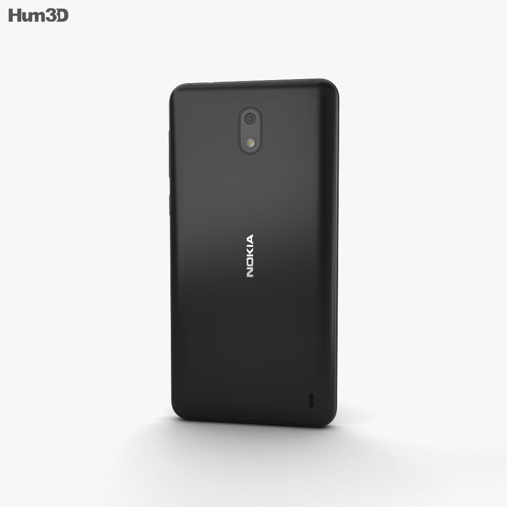 Nokia 2 Pewter Black 3d model