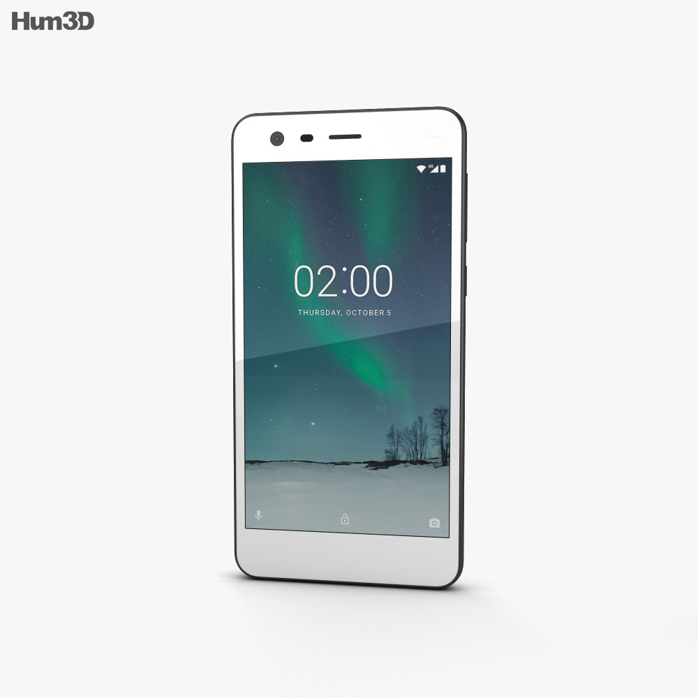 Nokia 2 Pewter White 3d model
