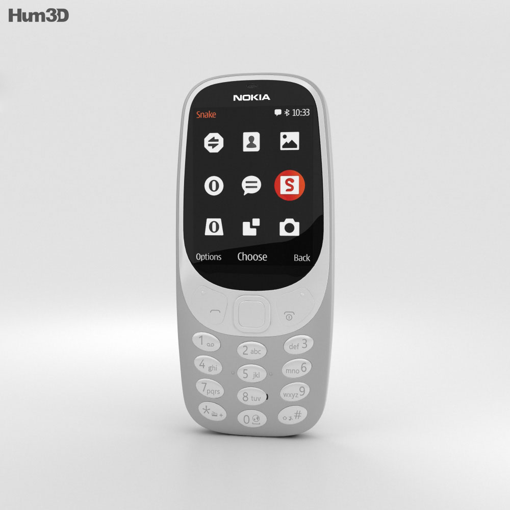 3D model of Nokia 3310 (2017) Grey