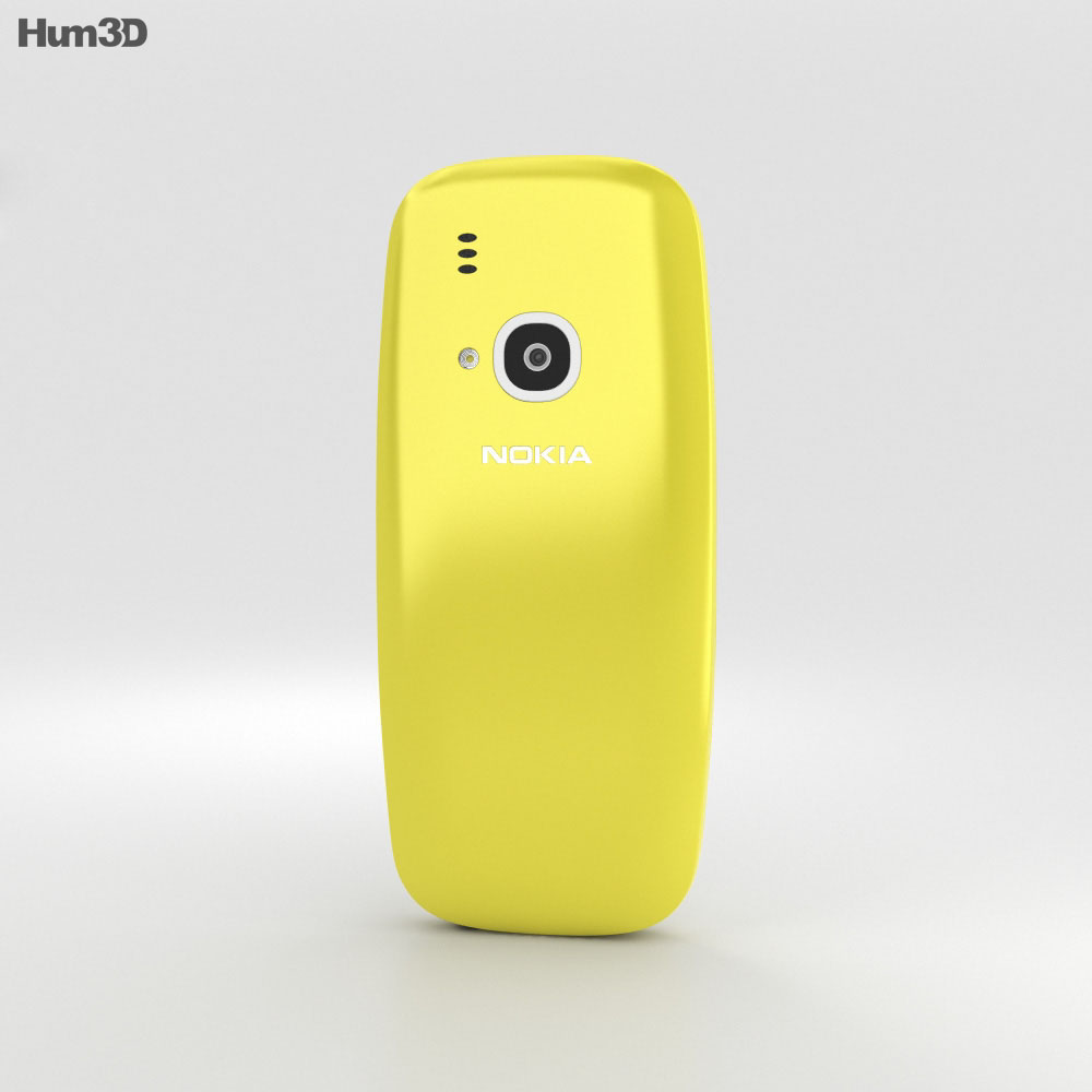 Nokia 3310 (2017) Yellow 3d model
