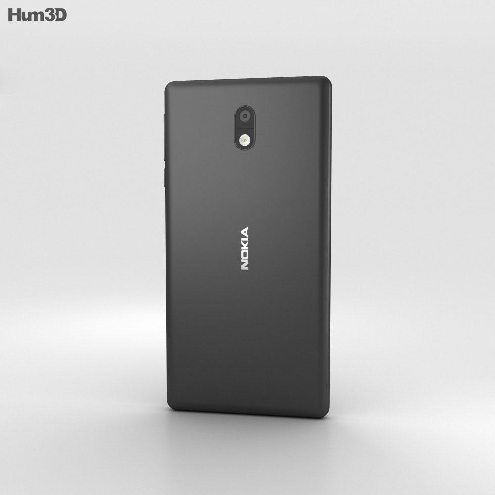 Nokia 3 Matte Black 3d model