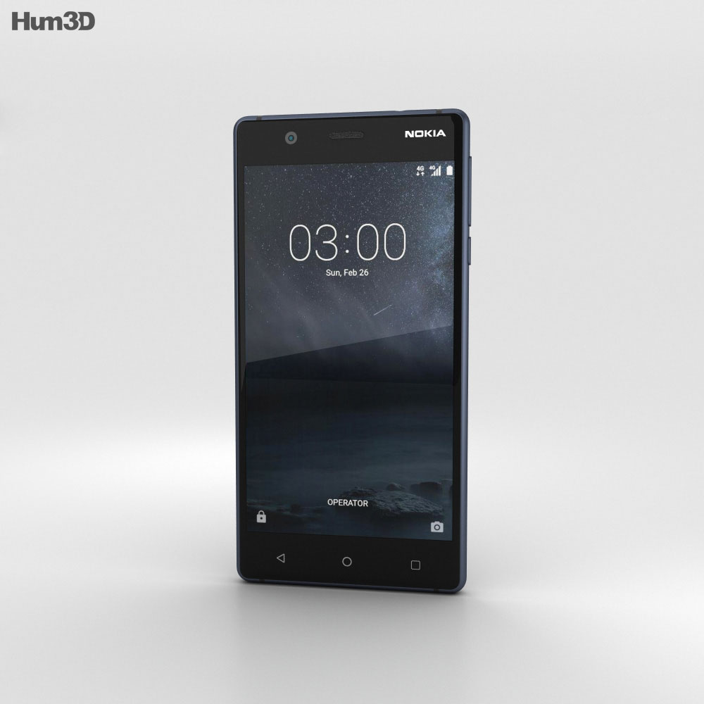 Nokia 3 Tempered Blue 3d model