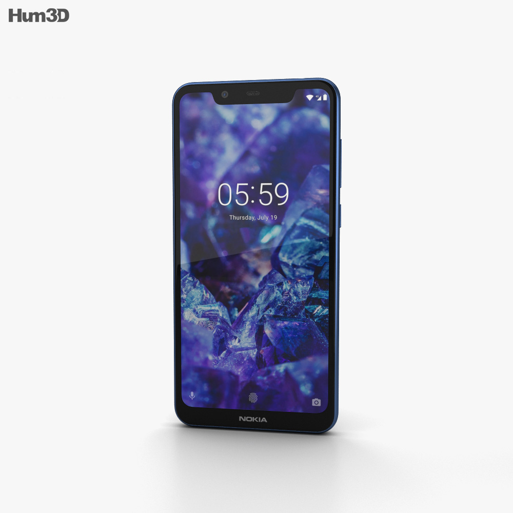 Nokia 5.1 Plus Baltic Sea Blue 3d model