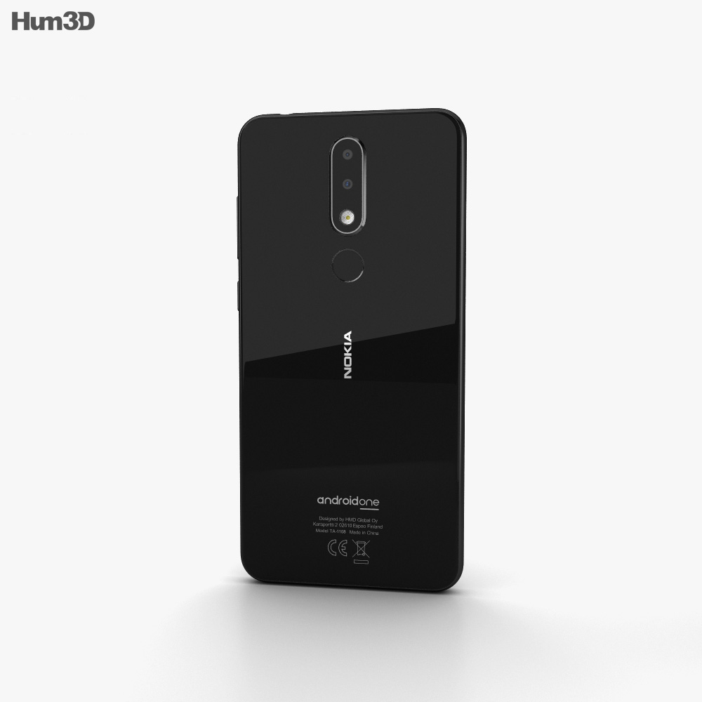 Nokia 5.1 Plus Night Black 3d model