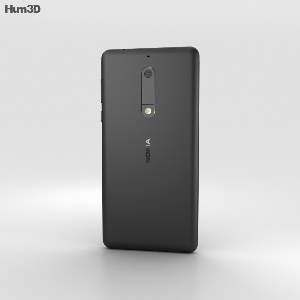 Nokia 5 Matte Black 3d model