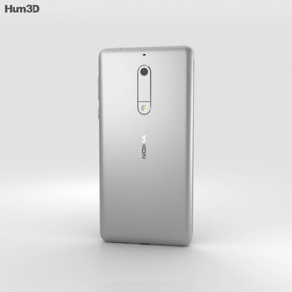 Nokia 5 Silver 3d model