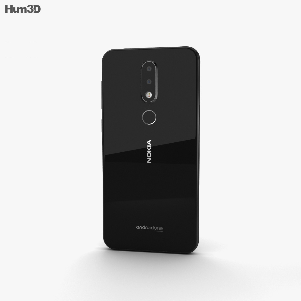 Nokia 6.1 Plus Black 3d model