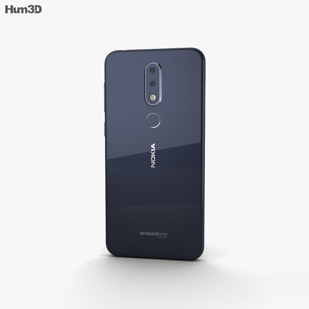 Nokia 6.1 Plus Blue 3d model
