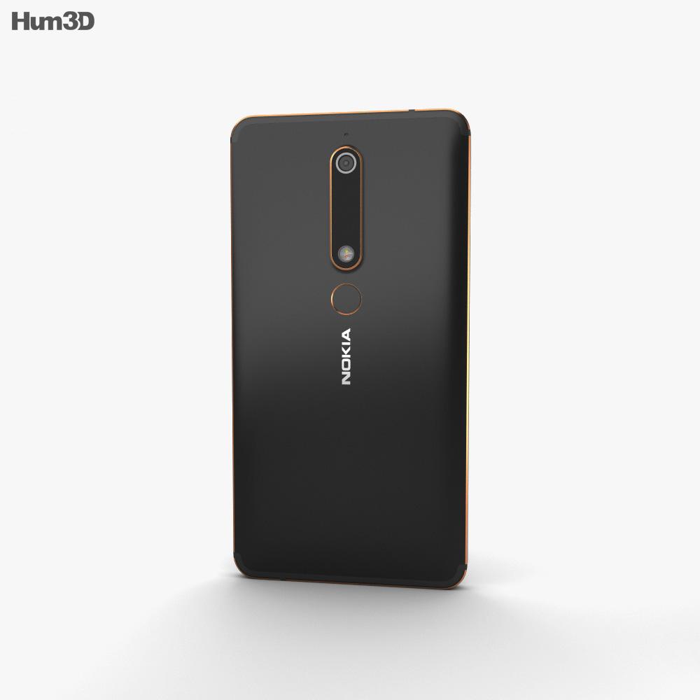 Nokia 6 (2018) Black 3d model