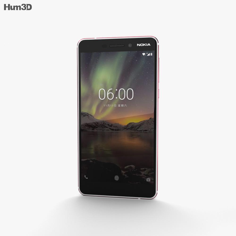 Nokia 6 (2018) Silver 3d model