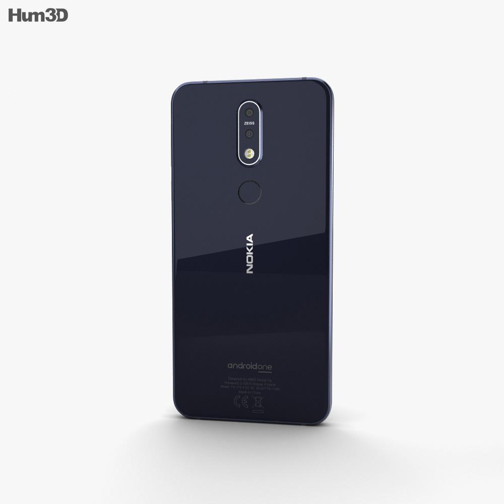 Nokia 7.1 Gloss Midnight Blue 3d model