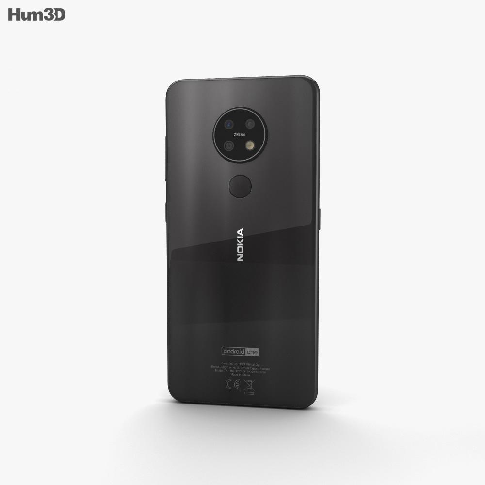 Nokia 7.2 Charcoal 3d model