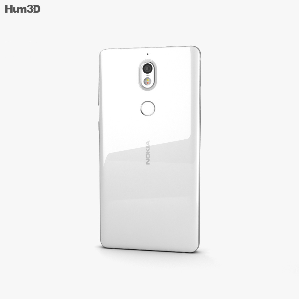 Nokia 7 Matt White 3d model