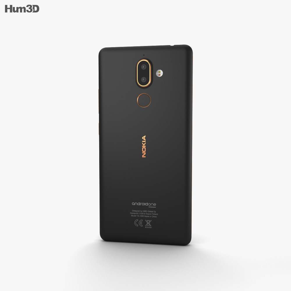 Nokia 7 Plus Black 3d model