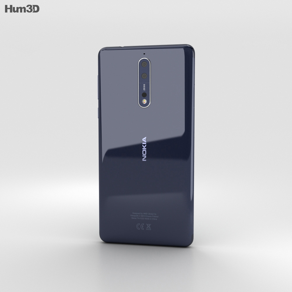 Nokia 8 Polished Blue 3d model