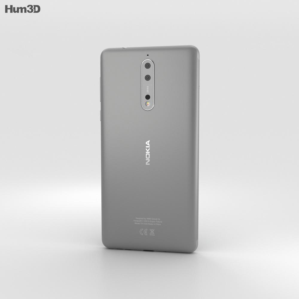Nokia 8 Steel 3d model