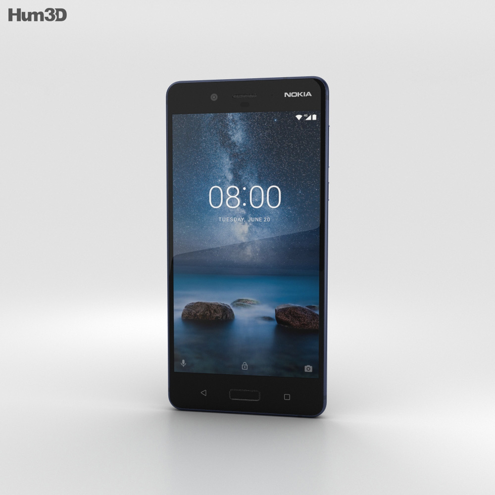 Nokia 8 Tempered Blue 3d model